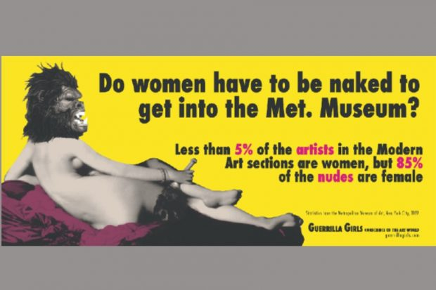 Guerrilla Girls – Naked, 1989, copyright © Guerrilla Girls and courtesy of guerrillagirls.com